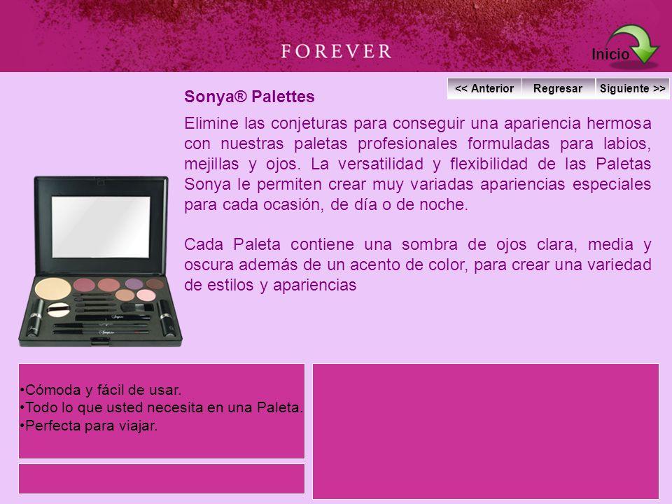 Sonya® Palettes Elimine las conjeturas para conseguir una apariencia hermosa con nuestras paletas profesionales formuladas para labios, mejillas y ojo
