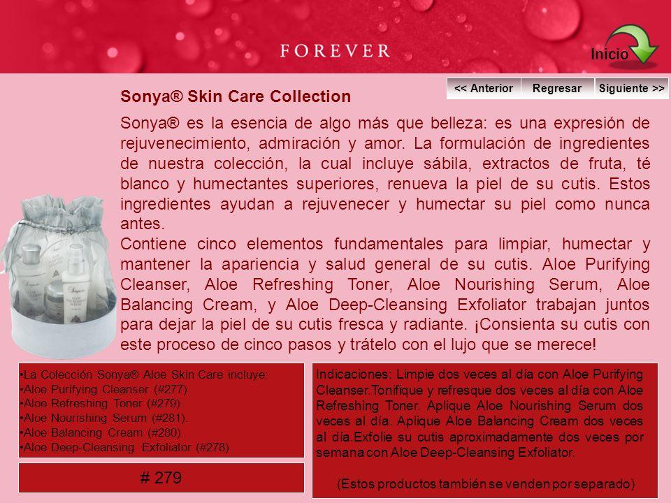Sonya® Skin Care Collection Sonya® es la esencia de algo más que belleza: es una expresión de rejuvenecimiento, admiración y amor. La formulación de i