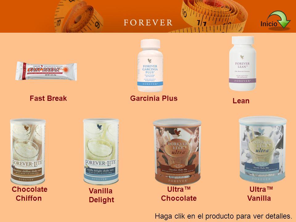 Haga clik en el producto para ver detalles. Fast BreakGarcinia Plus Lean Chocolate Chiffon Vanilla Delight Ultra Chocolate Ultra Vanilla Inicio