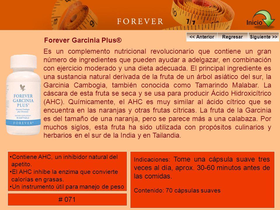 Forever Garcinia Plus® Es un complemento nutricional revolucionario que contiene un gran número de ingredientes que pueden ayudar a adelgazar, en comb