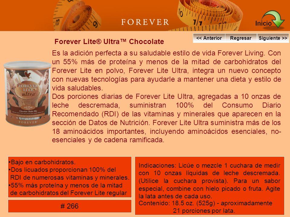 Forever Lite® Ultra Chocolate Es la adición perfecta a su saludable estilo de vida Forever Living. Con un 55% más de proteína y menos de la mitad de c
