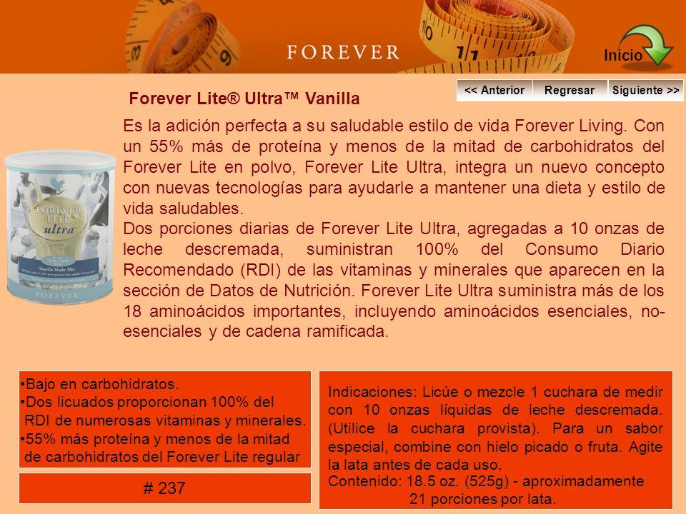 Forever Lite® Ultra Vanilla Es la adición perfecta a su saludable estilo de vida Forever Living. Con un 55% más de proteína y menos de la mitad de car