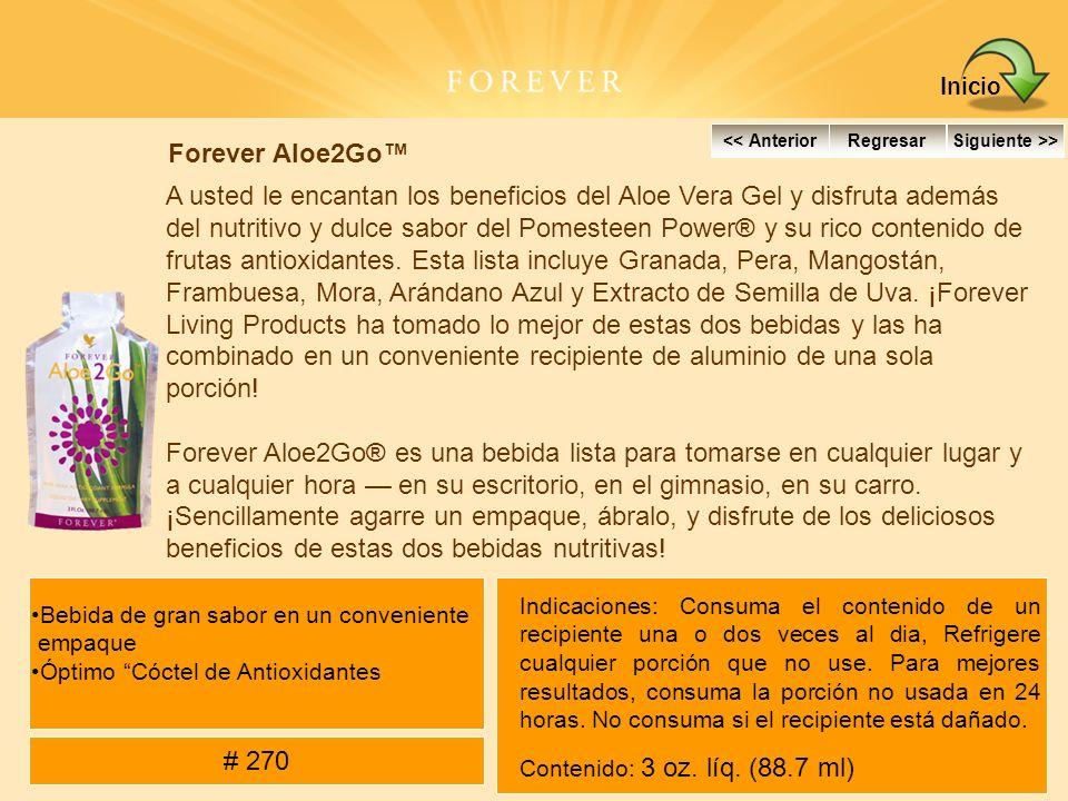 Forever Aloe2Go A usted le encantan los beneficios del Aloe Vera Gel y disfruta además del nutritivo y dulce sabor del Pomesteen Power® y su rico cont