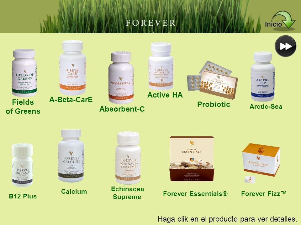 Haga clik en el producto para ver detalles. Fields of Greens A-Beta-CarE Absorbent-C Active HA Probiotic Arctic-Sea B12 Plus Calcium Echinacea Supreme