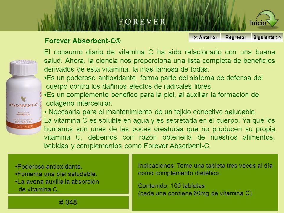 Forever Absorbent-C® El consumo diario de vitamina C ha sido relacionado con una buena salud. Ahora, la ciencia nos proporciona una lista completa de