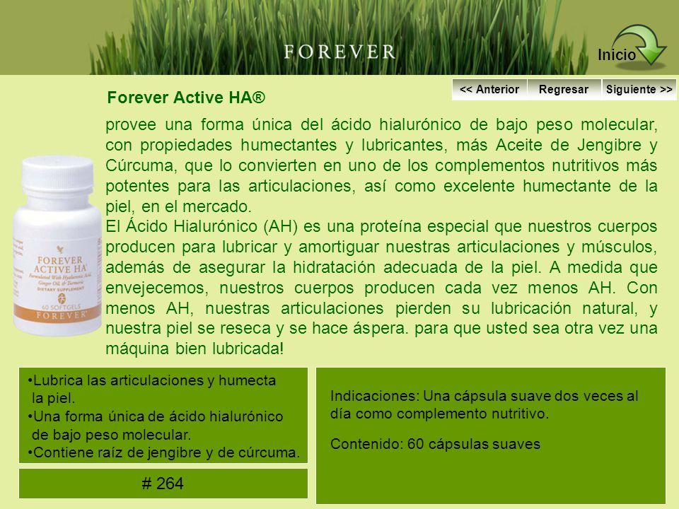 Forever Active HA® provee una forma única del ácido hialurónico de bajo peso molecular, con propiedades humectantes y lubricantes, más Aceite de Jengi