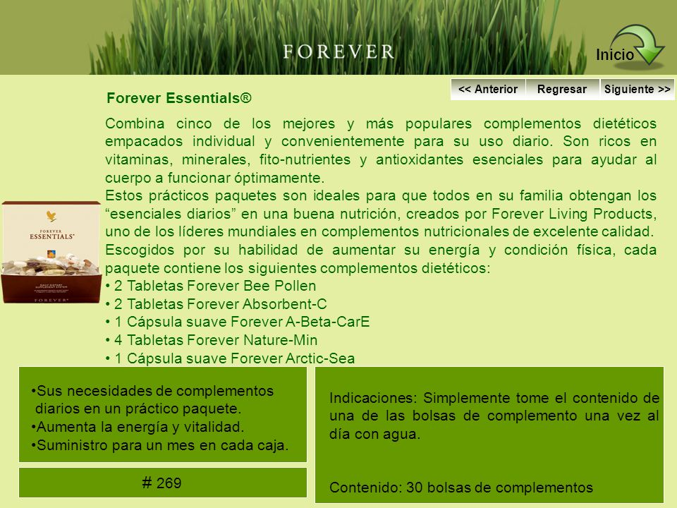 Forever Essentials® Combina cinco de los mejores y más populares complementos dietéticos empacados individual y convenientemente para su uso diario. S
