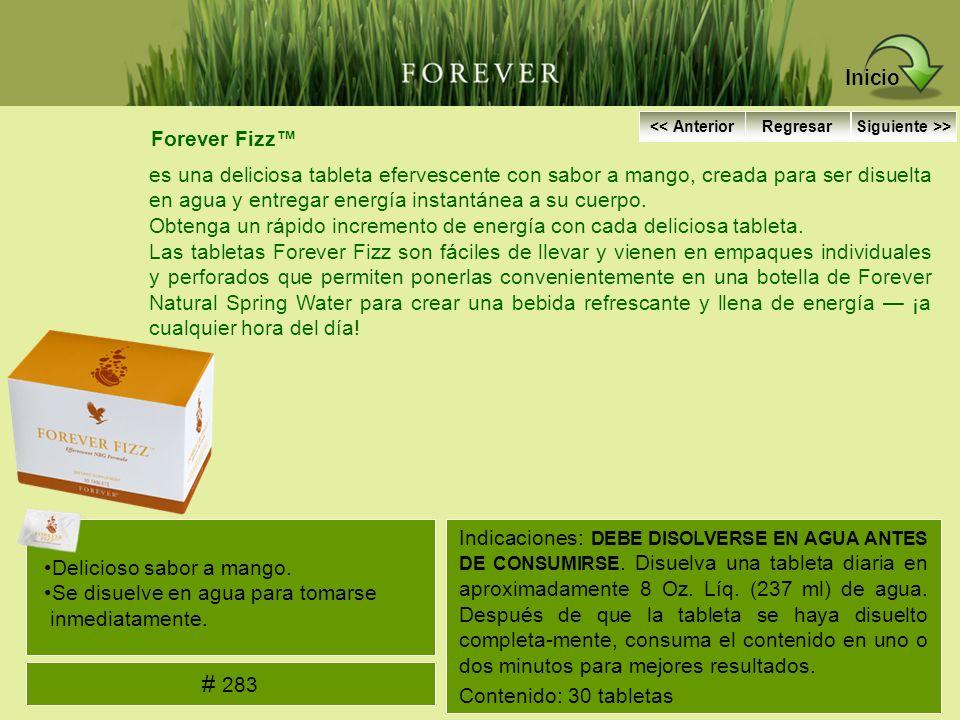 Forever Fizz es una deliciosa tableta efervescente con sabor a mango, creada para ser disuelta en agua y entregar energía instantánea a su cuerpo. Obt