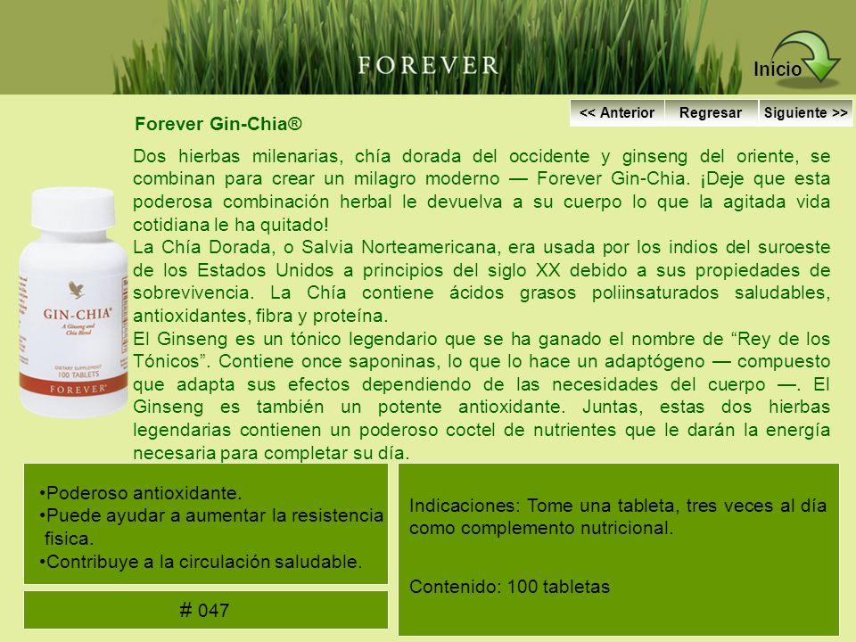 Forever Gin-Chia® Dos hierbas milenarias, chía dorada del occidente y ginseng del oriente, se combinan para crear un milagro moderno Forever Gin-Chia.