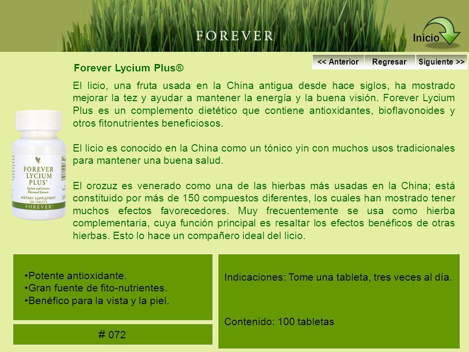 Forever Lycium Plus® El licio, una fruta usada en la China antigua desde hace siglos, ha mostrado mejorar la tez y ayudar a mantener la energía y la b