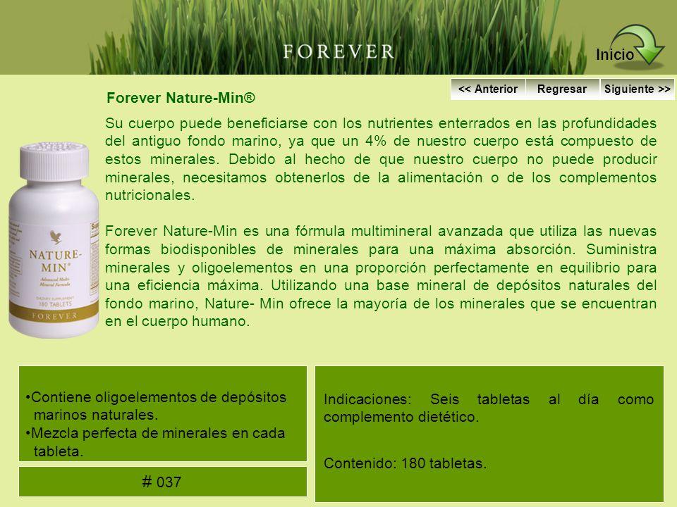 Forever Nature-Min® Su cuerpo puede beneficiarse con los nutrientes enterrados en las profundidades del antiguo fondo marino, ya que un 4% de nuestro