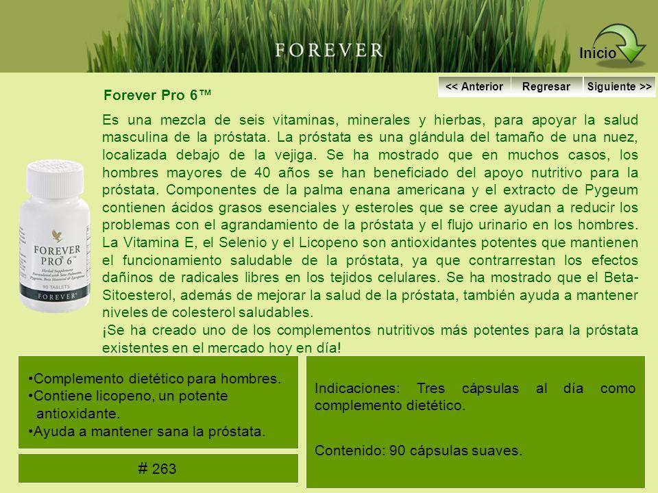 Forever Pro 6 Es una mezcla de seis vitaminas, minerales y hierbas, para apoyar la salud masculina de la próstata. La próstata es una glándula del tam