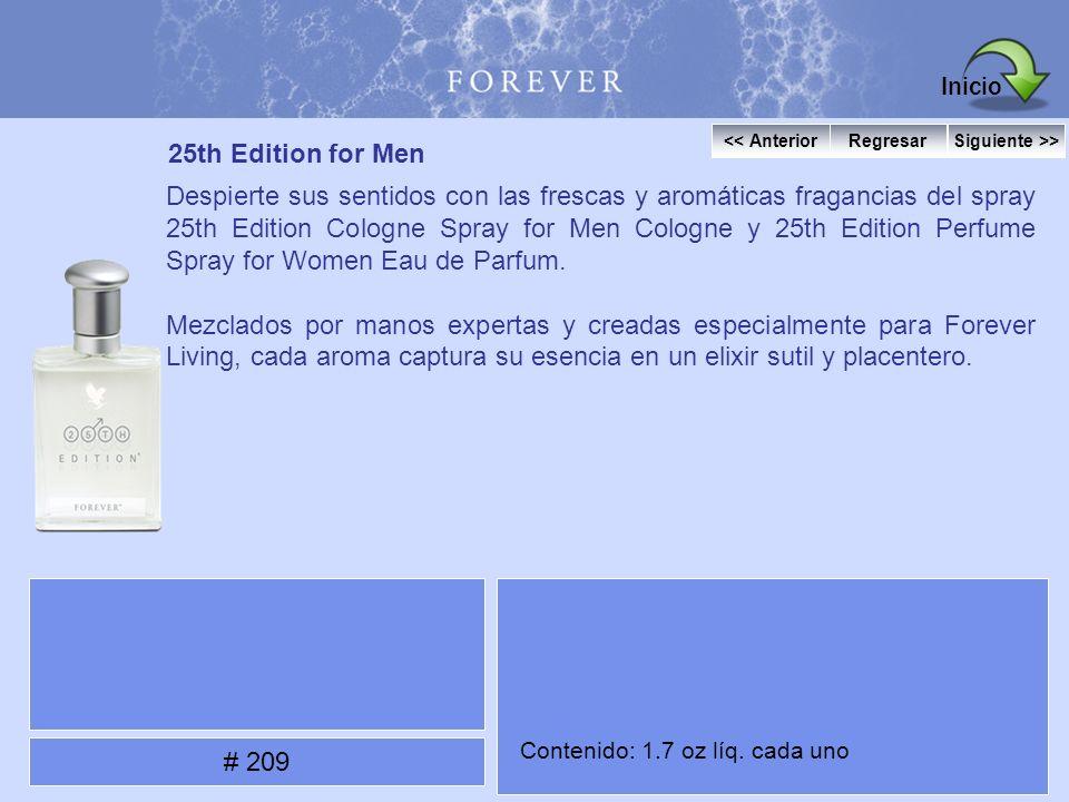 25th Edition for Men Despierte sus sentidos con las frescas y aromáticas fragancias del spray 25th Edition Cologne Spray for Men Cologne y 25th Editio