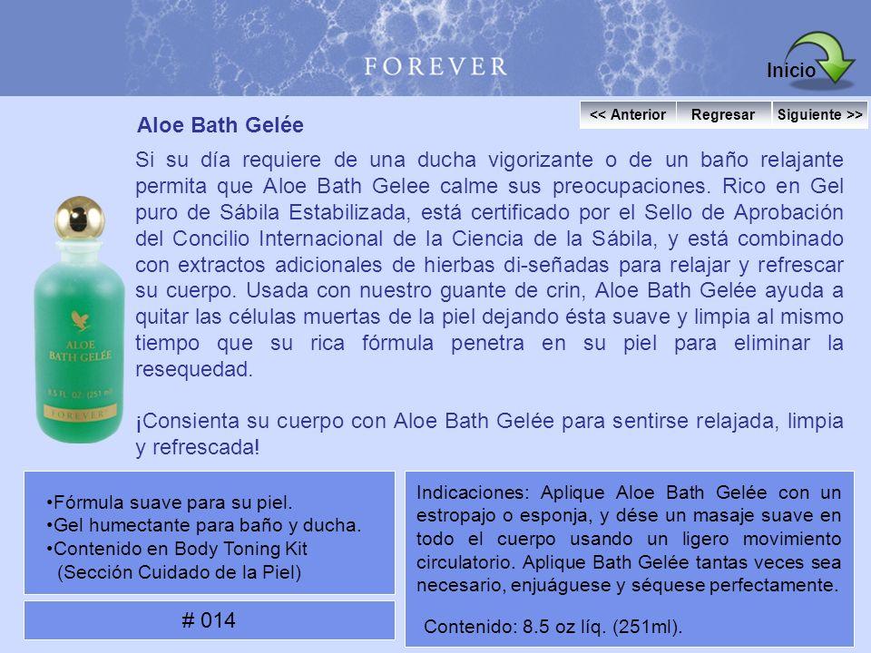 Aloe Bath Gelée Si su día requiere de una ducha vigorizante o de un baño relajante permita que Aloe Bath Gelee calme sus preocupaciones. Rico en Gel p