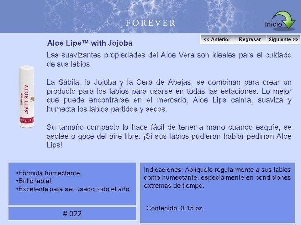Aloe Lips with Jojoba Las suavizantes propiedades del Aloe Vera son ideales para el cuidado de sus labios. La Sábila, la Jojoba y la Cera de Abejas, s