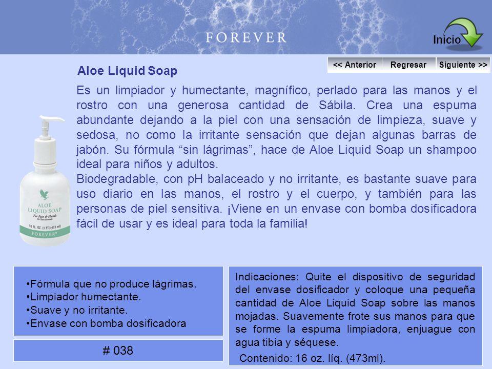 Aloe Liquid Soap Es un limpiador y humectante, magnífico, perlado para las manos y el rostro con una generosa cantidad de Sábila. Crea una espuma abun