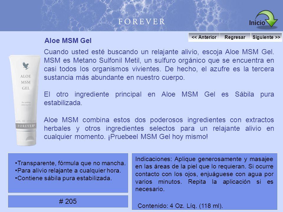 Aloe MSM Gel Cuando usted esté buscando un relajante alivio, escoja Aloe MSM Gel. MSM es Metano Sulfonil Metil, un sulfuro orgánico que se encuentra e