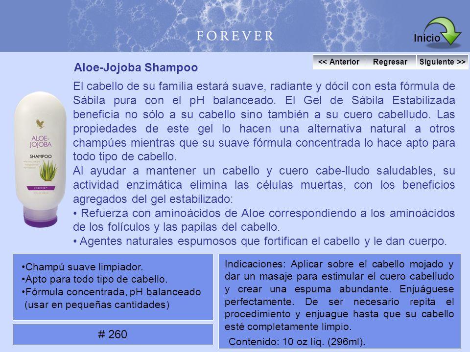 Aloe-Jojoba Shampoo El cabello de su familia estará suave, radiante y dócil con esta fórmula de Sábila pura con el pH balanceado. El Gel de Sábila Est