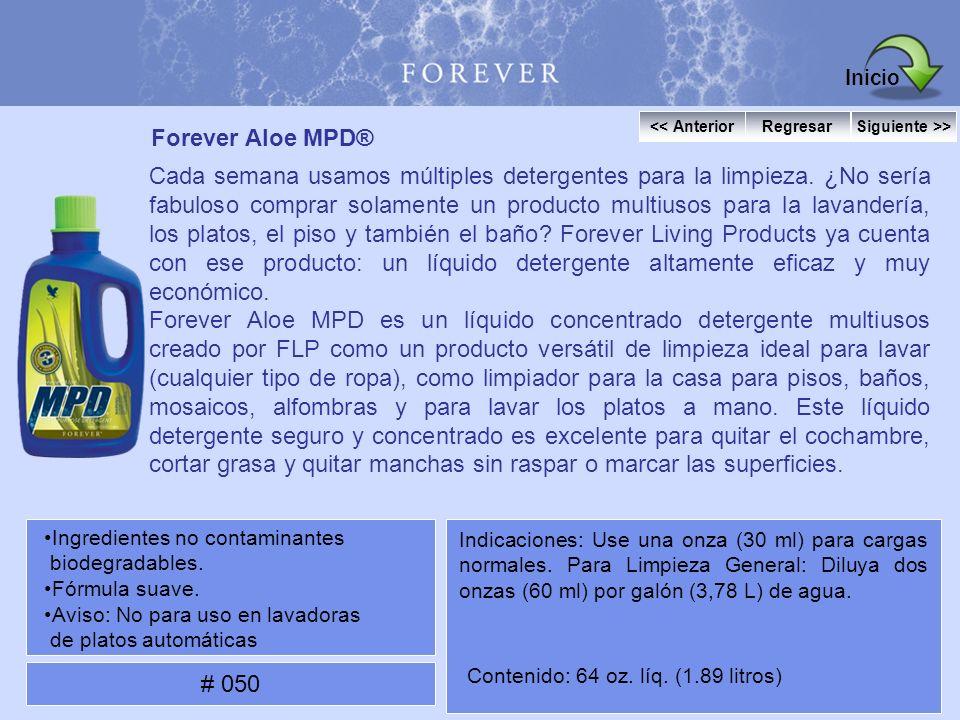 Forever Aloe MPD® Cada semana usamos múltiples detergentes para la limpieza. ¿No sería fabuloso comprar solamente un producto multiusos para la lavand