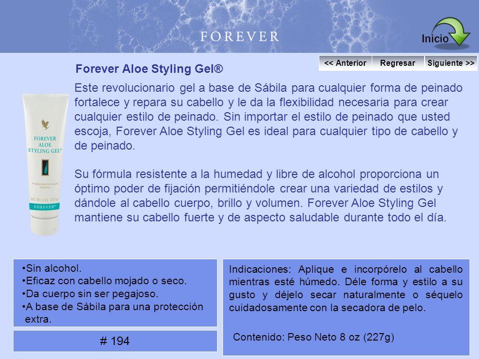Forever Aloe Styling Gel® Este revolucionario gel a base de Sábila para cualquier forma de peinado fortalece y repara su cabello y le da la flexibilid
