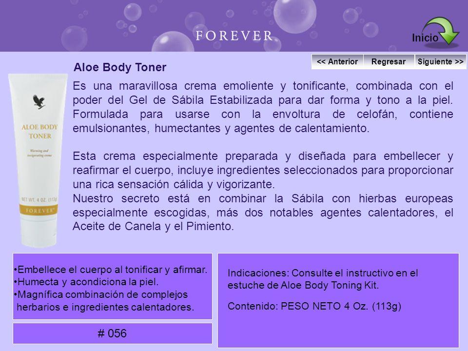 Aloe Body Toner Es una maravillosa crema emoliente y tonificante, combinada con el poder del Gel de Sábila Estabilizada para dar forma y tono a la pie