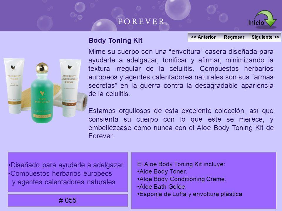 Body Toning Kit Mime su cuerpo con una envoltura casera diseñada para ayudarle a adelgazar, tonificar y afirmar, minimizando la textura irregular de l