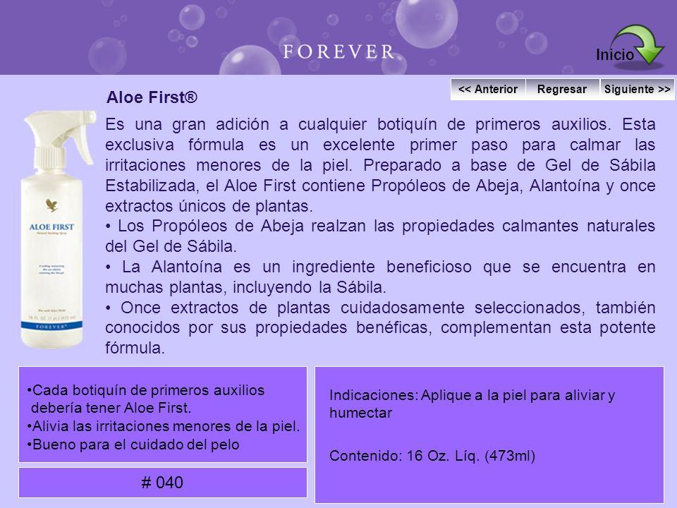 Aloe First® Es una gran adición a cualquier botiquín de primeros auxilios. Esta exclusiva fórmula es un excelente primer paso para calmar las irritaci