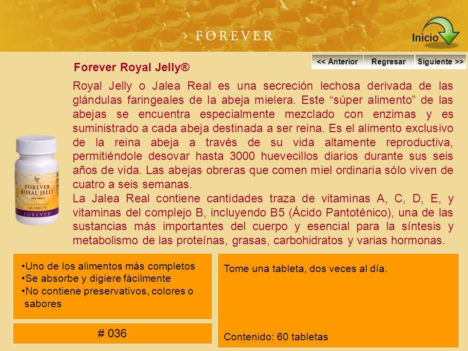 Forever Royal Jelly® Royal Jelly o Jalea Real es una secreción lechosa derivada de las glándulas faringeales de la abeja mielera. Este súper alimento