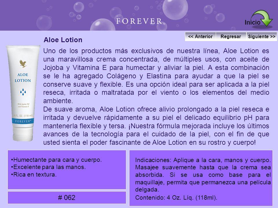 Aloe Lotion Uno de los productos más exclusivos de nuestra línea, Aloe Lotion es una maravillosa crema concentrada, de múltiples usos, con aceite de J