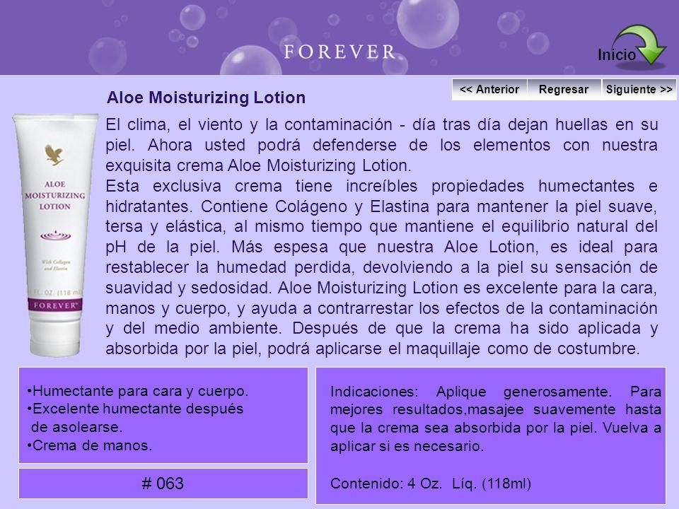 Aloe Moisturizing Lotion El clima, el viento y la contaminación - día tras día dejan huellas en su piel. Ahora usted podrá defenderse de los elementos