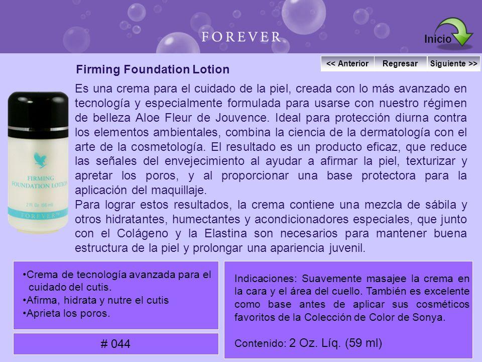 Firming Foundation Lotion Es una crema para el cuidado de la piel, creada con lo más avanzado en tecnología y especialmente formulada para usarse con