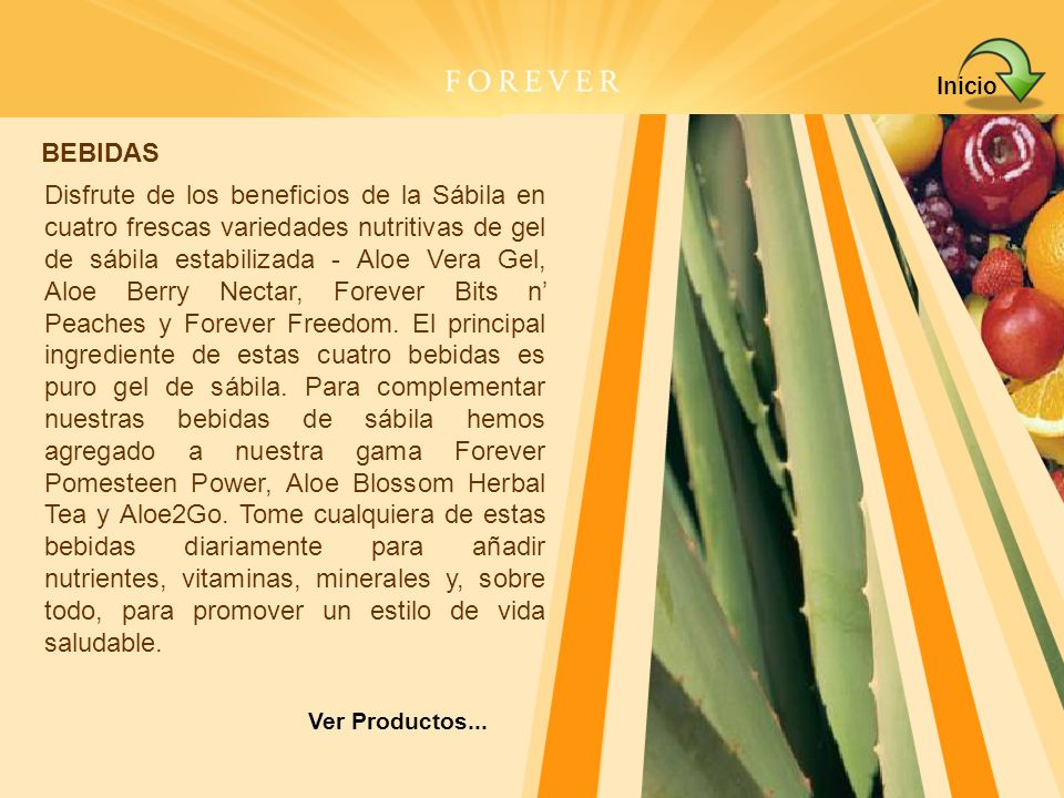 Aloe Berry NectarHerbal TeaAloe Vera GelBits n Peaches Forever Aloe2GoPomesteen PowerForever Freedom® Haga clik en el producto para ver detalles.