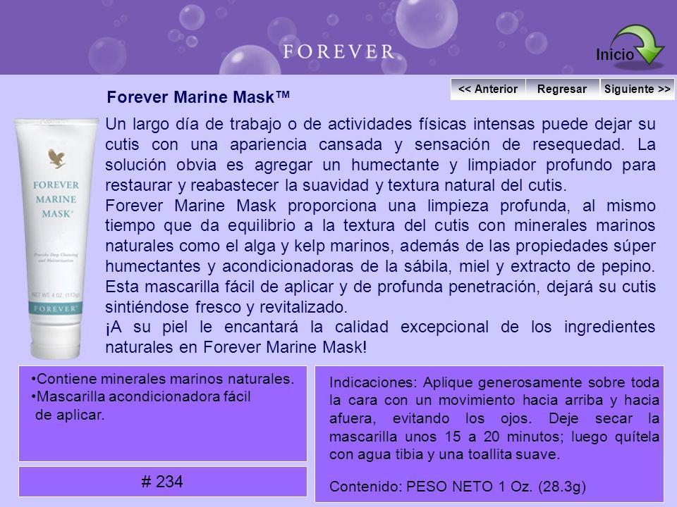 Forever Marine Mask Un largo día de trabajo o de actividades físicas intensas puede dejar su cutis con una apariencia cansada y sensación de resequeda