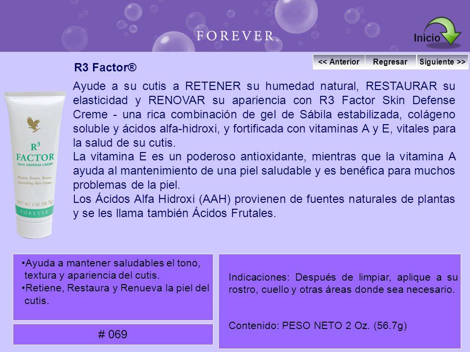 R3 Factor® Ayude a su cutis a RETENER su humedad natural, RESTAURAR su elasticidad y RENOVAR su apariencia con R3 Factor Skin Defense Creme - una rica