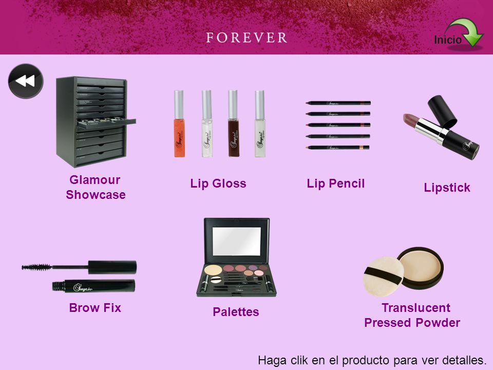 Haga clik en el producto para ver detalles. Glamour Showcase Lip GlossLip Pencil Lipstick Brow Fix Palettes Translucent Pressed Powder Inicio