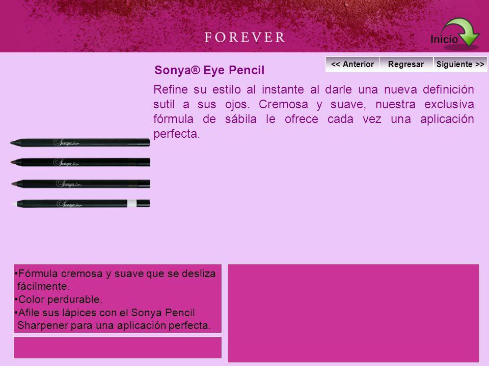 Sonya® Eye Pencil Refine su estilo al instante al darle una nueva definición sutil a sus ojos. Cremosa y suave, nuestra exclusiva fórmula de sábila le