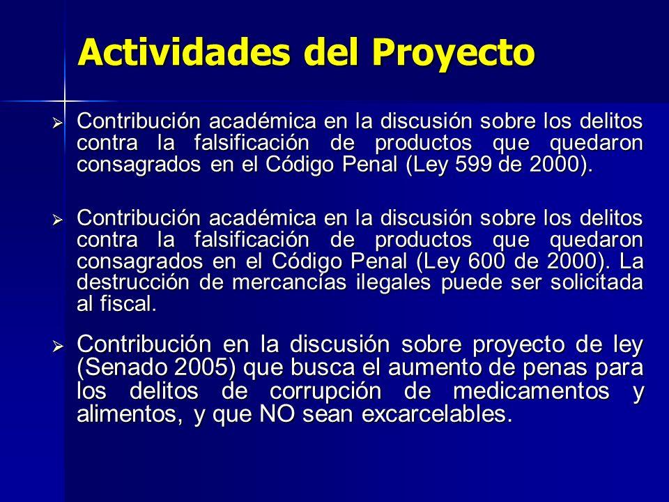 Contribución académica en la discusión sobre los delitos contra la falsificación de productos que quedaron consagrados en el Código Penal (Ley 599 de 2000).