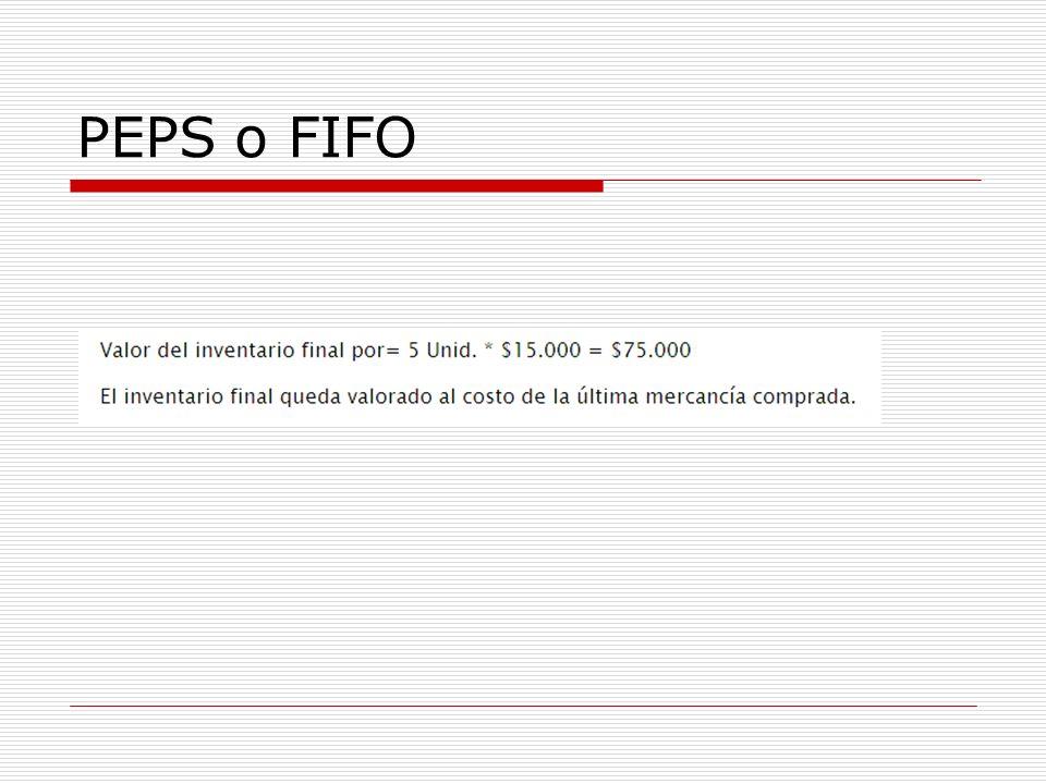PEPS o FIFO
