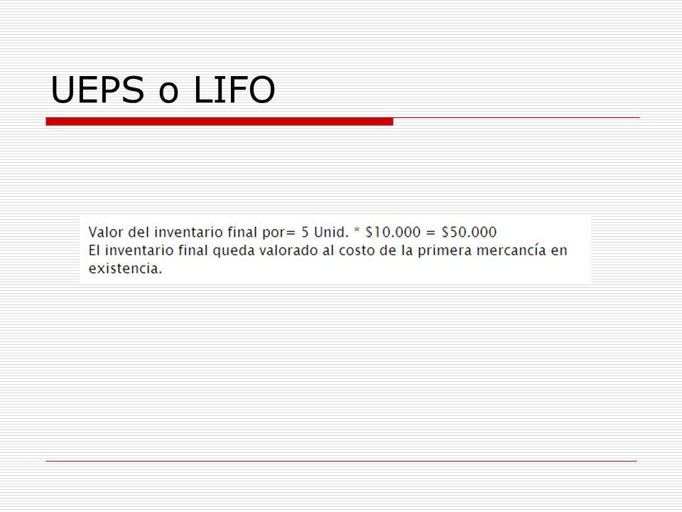 UEPS o LIFO