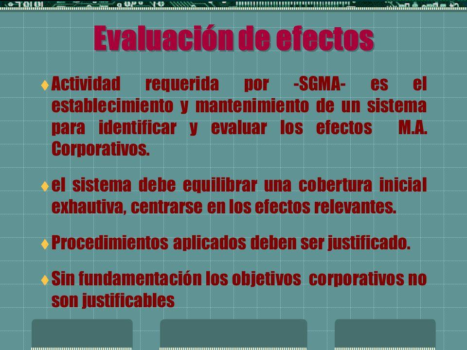 Registro de los efectos Registro de Efectos M.A.