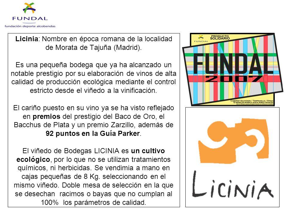 Licinia: Nombre en época romana de la localidad de Morata de Tajuña (Madrid).