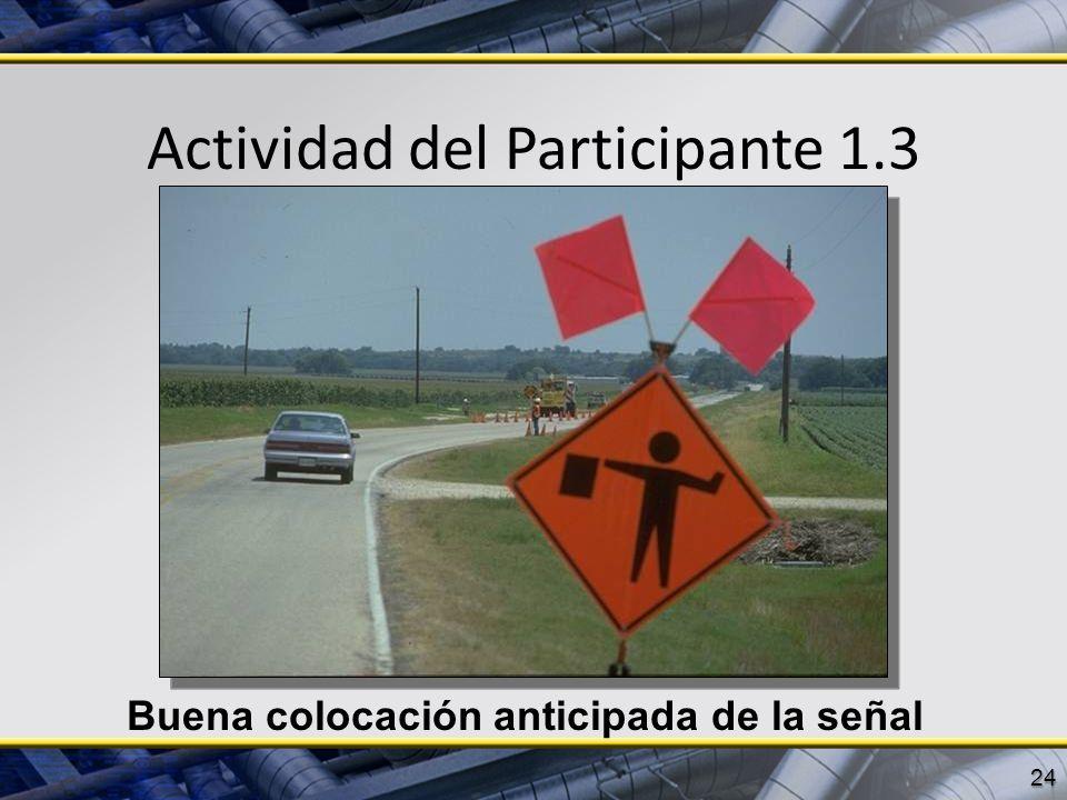 Actividad del Participante 1.3 24 Buena colocación anticipada de la señal