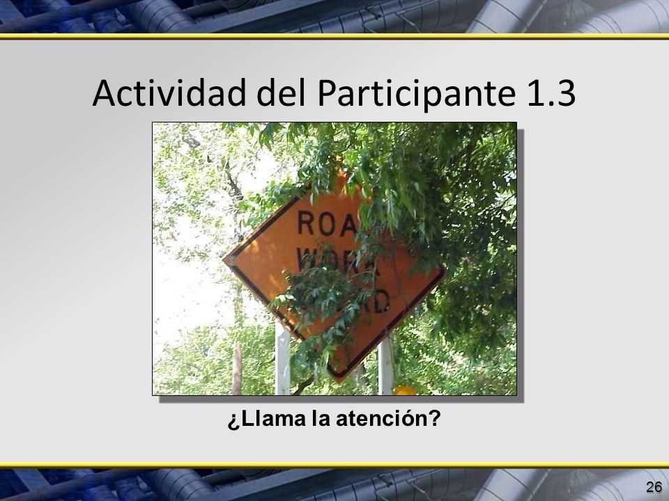 Actividad del Participante 1.3 26 ¿Llama la atención?