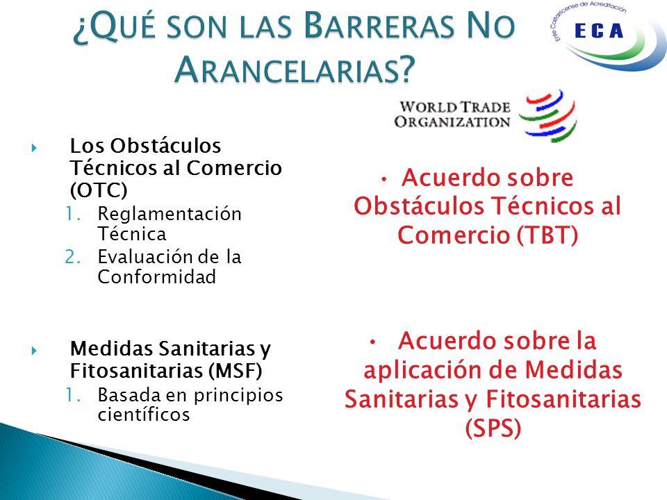 Los Obstáculos Técnicos al Comercio (OTC) 1.Reglamentación Técnica 2.Evaluación de la Conformidad Medidas Sanitarias y Fitosanitarias (MSF) 1.Basada e