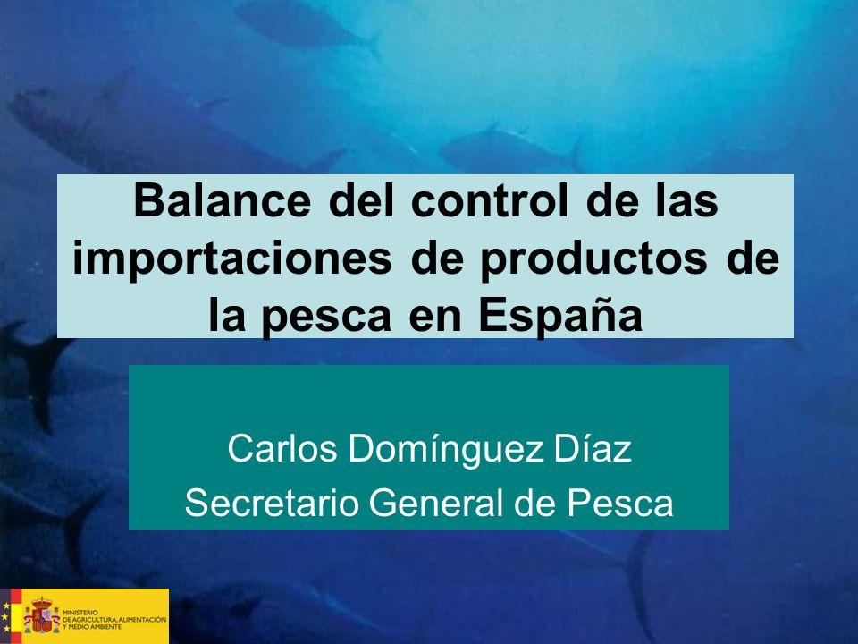 Balance del control de las importaciones de productos de la pesca en España Carlos Domínguez Díaz Secretario General de Pesca