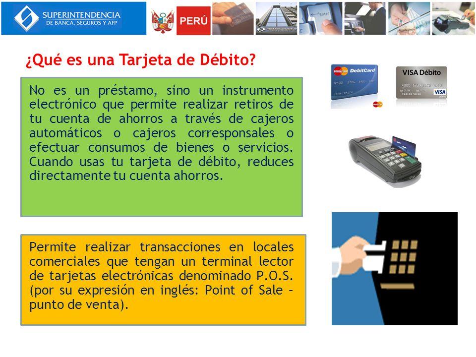 No es un préstamo, sino un instrumento electrónico que permite realizar retiros de tu cuenta de ahorros a través de cajeros automáticos o cajeros corr