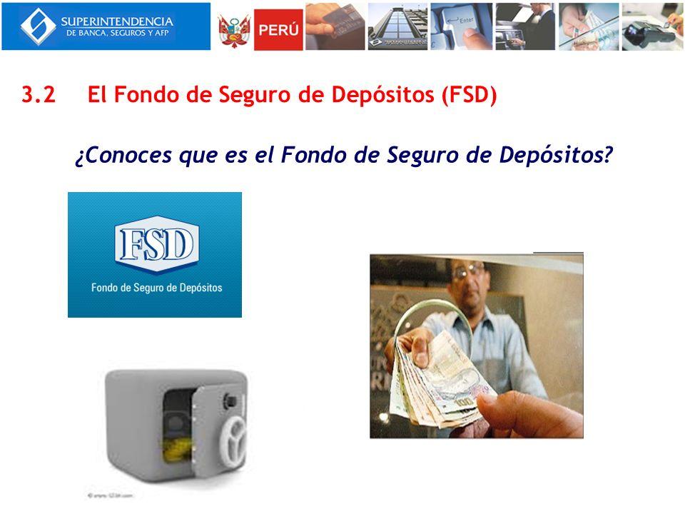¿Conoces que es el Fondo de Seguro de Depósitos? 3.2El Fondo de Seguro de Depósitos (FSD)