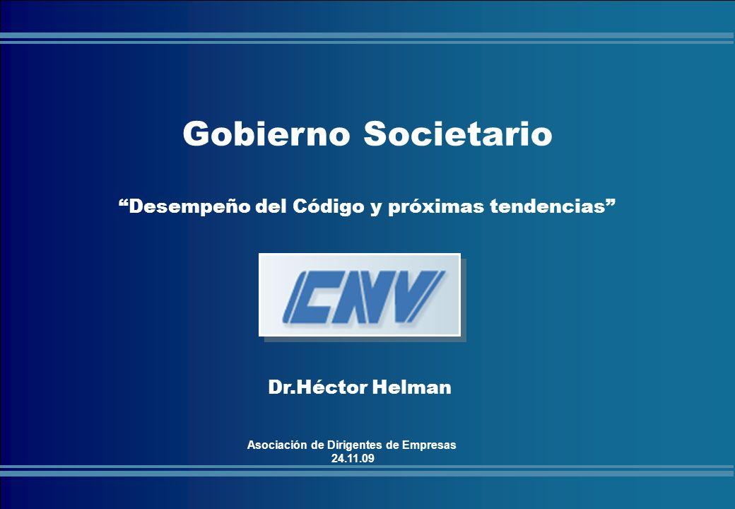 COMISIÓN NACIONAL DE VALORES Gobierno Societario.