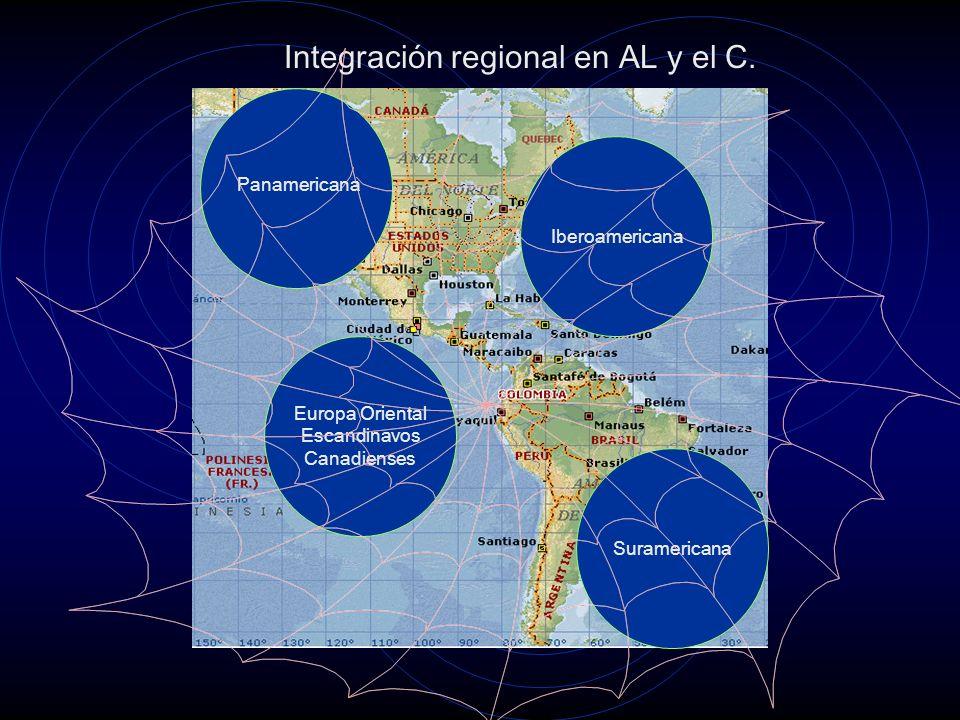 Integración regional en AL y el C.
