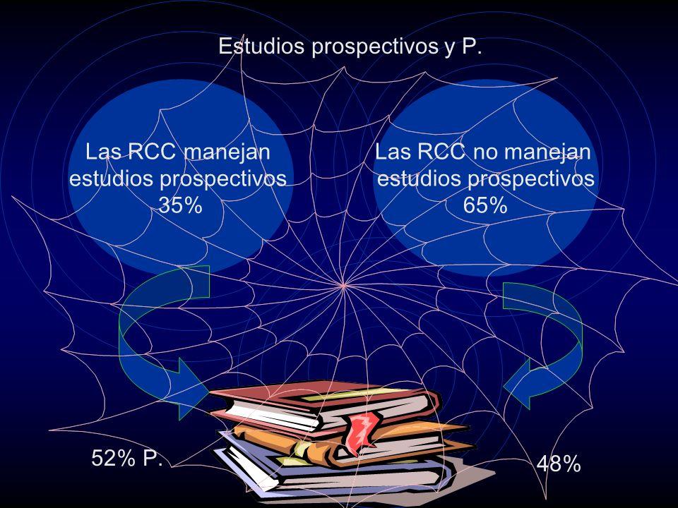 Estudios prospectivos y P.